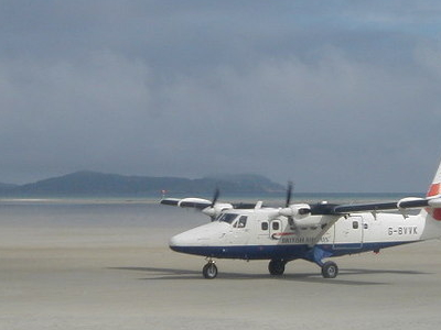 Plane Arrival At Barra Airport