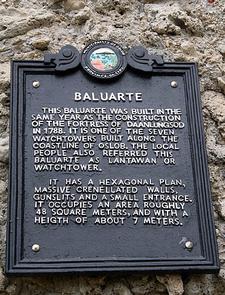 Plaque At Baluarte