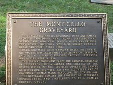 Plaque Commemorating Monticello Graveyard