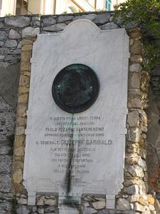 Plaque Dedicated To Giuseppe Garibaldi