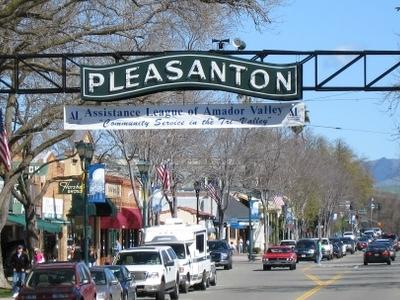 Pleasanton Sign On Main Street