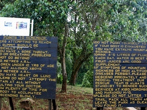 Points To Remember - Along Machame Route