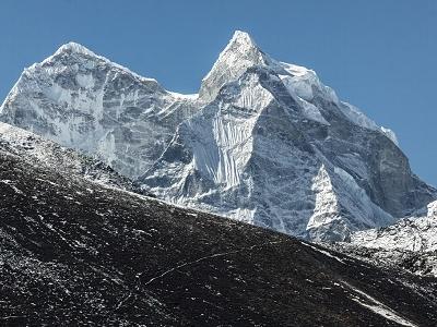 Pokalde & Mera Peaks From Dingboche - Nepal Himalayas