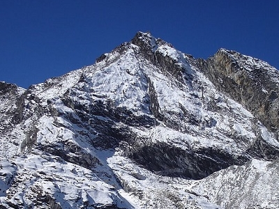 Pokalde Peak From Base Camp - Nepal
