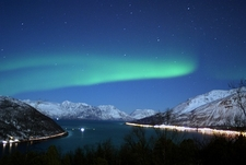 Polar Lights Over The Fjord - Berg Norway