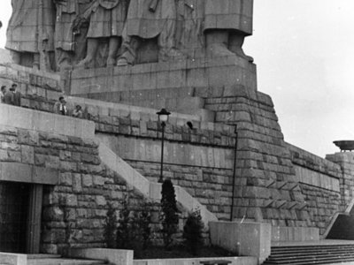 The Stalin Monument And Pedestal