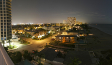 Pompano Beachs Nighttime Skyline Viewed From Briny Avenue