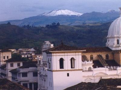 Popayán With Puracé Volcano