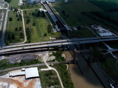 Port  Allen  Lock  Louisiana Aerial View