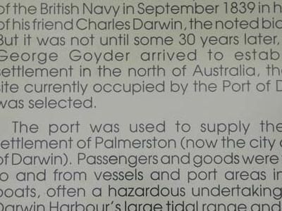 Port Darwin History