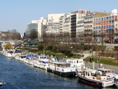 Port De L'Arsenal And Opera Bastille