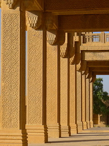 Portico Of Tomb Of Nawab Isa Khan The Younger