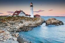 Portland ME Lighthouse - Evening View