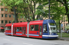 Portland Streetcar Runs North South Through Downtown