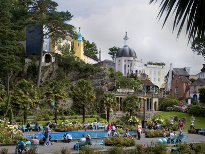 Portmeirion View Of Central Plaza