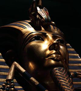 Portrait Of Tutankhamun's Inner Mummy Case Replica At VAM