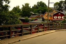 Porvoo Houses From Street - Finland