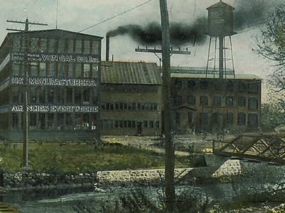Postcard Danbury C T View Of The Hat Factory 1 9 1 1