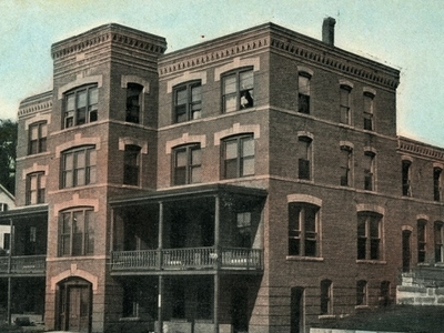 Postcard Jewett City Hotel 1 9 0 9