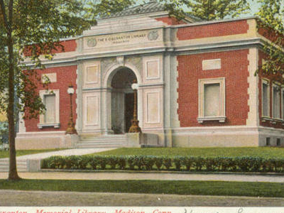 Postcard Madison C T Scranton Libr 1 9 0 6