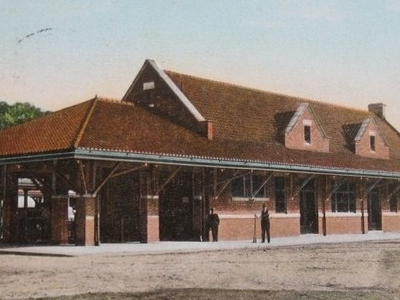 Postcard Putnam C T Railroad Station 1 9 1 4