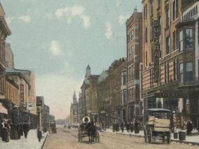 Postcard Steubenville O H Market Street