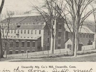 Postcard Uncasville C T Uncasville Mfg Co Mill 1 9 0 6