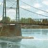 Postcard Windsor Locks C T Toll Bridge Warehouse Point 1 9 1 0