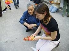 Practicing Kau Cim At Wong Tai Sin Temple