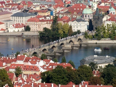 Charles Bridge As Viewed From Petřínská Rozhledna - Lookout Tower