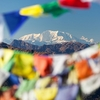 Prayer Flags At Mount Saipal - Nepal