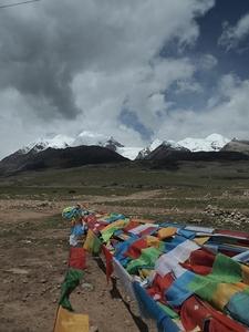 Prayer Flags At Nyainqêntanglha Mountains