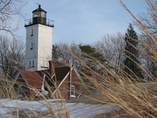 Presque Isle Lighthouse - Winter View - Erie PA