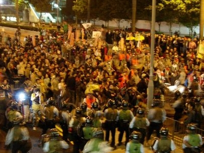 Protesters Occupied The  Gloucester  Road
