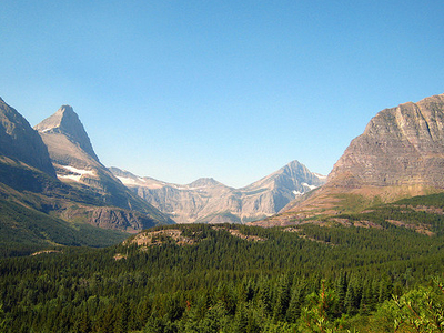 Ptarmigan Falls Trail At Glacier - Montana - USA