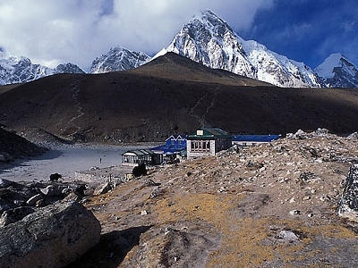 Pumori From Gorak Shep - Nepal Himalayas