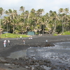 Punaluu Black Sand Beach Park In Big Island (Hawaii)