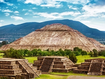 Pyramids Of Sun In Teotihuacan
