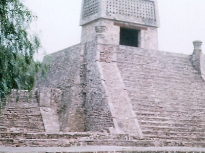 Pyramid At Santa Cecilia Acatitlán