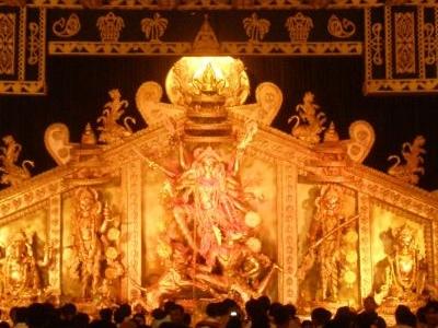 Durga Idol At Cooperative Park Puja