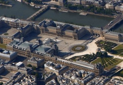 Aerial View Of The Louvre Palace