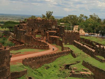 Entrance View Of Bidar Fort