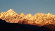 Panchchuli Peaks At Sunset