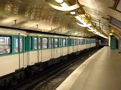 MF 67 Rolling Stock On Line 12 At Mairie D'Issy