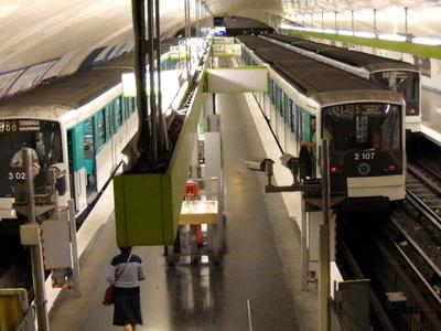 Line 9 Platforms At Pont De Sèvres