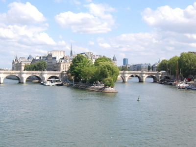Île De La Cité From Upstream
