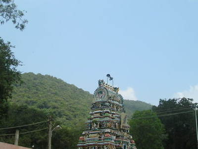 Main Gopuram Of The Temple From A Distance