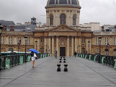 On The Bridge View On The Institut De France