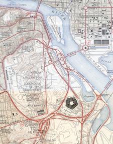 Pentagon Road Network Map 1945