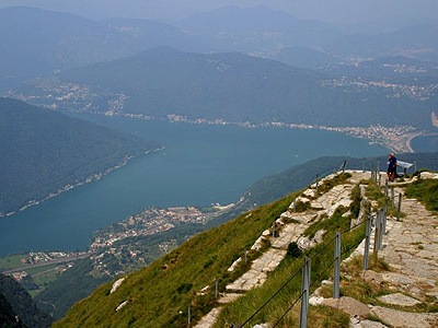 View To North From Monte Generoso